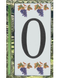 Numero de rue chiffre 0 décor grappe de raisin