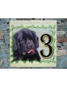 Plaque en céramique personnalisable avec photo de mon animal (n°2)