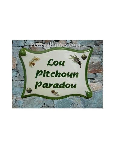 grande plaque parchemin originale pour maison de signalisation ou plaque de num rotation en. Black Bedroom Furniture Sets. Home Design Ideas