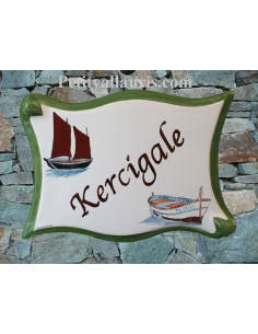 Plaque parchemin pour maison décor personnalisé Bateau et Sinago