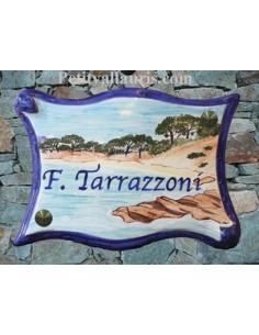 Plaque parchemin pour maison décor personnalisé Palombaggia Corse