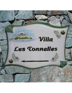 Plaque parchemin pour propriété décor personnalisé Kercigale Calvi