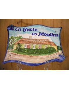 Plaque pour maison parchemin décor personnalisé maison Ouest France