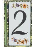 Numéro de Rue et Maison chiffre 2 décor tradition Moustiers