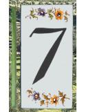Numéro de Rue et Maison chiffre 7 décor tradition Moustiers