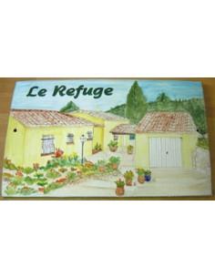 Plaque de maison Client décor Villa dans le Var