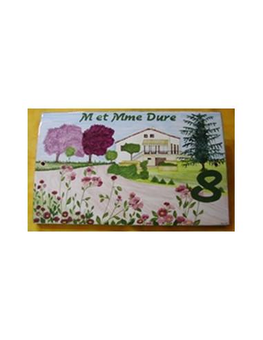 Plaque de maison client d cor villa jardin et prunus le for Decoration jardin villa
