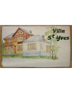 Plaque de maison Client décor Maison Boiserie des Alpes