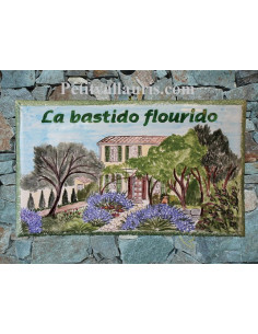 Plaque de maison Client décor Bastide Provençale