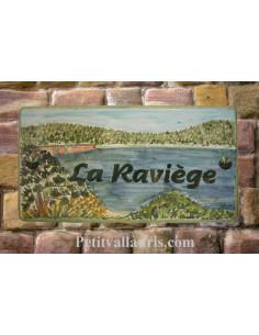 Plaque de maison décor Barrage la Raviège