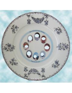 Assiette d'anniversaire avec photo en porcelaine décor petits enfants