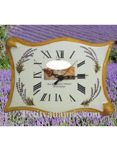 Horloge d'Anniversaire modèle Parchemin Lavande avec photo