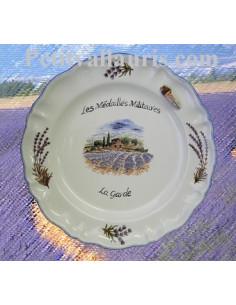Assiette avec décor champs de Lavande pour collectivité ou association