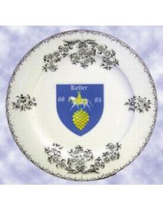Assiette avec décor Blason pour collectivité ou association