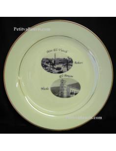Assiette avec photo personnalisée souvenir rapatriés