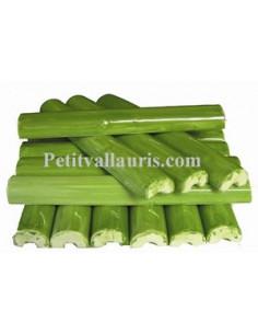 Listel fin ou corniche émaillée couleur vert moyen