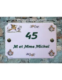 Plaque pour maison en céramique décor tradition vieux Moustiers