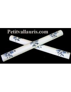 Listel fin décor Tradition Vieux Moustiers bleu