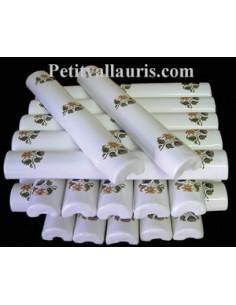 Listel large décor Fleur de Tradition Vieux moustiers polychrome