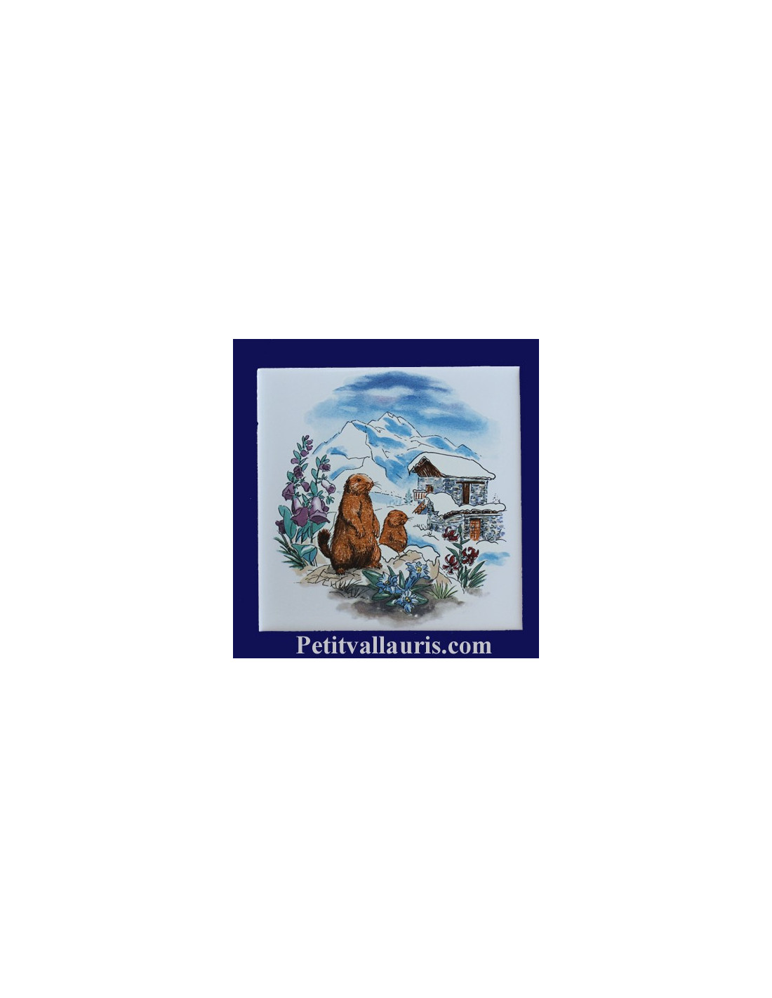 carreau d cor paysage hiver et refuge 10 x 10 et 15x15 cm le petit vallauris. Black Bedroom Furniture Sets. Home Design Ideas