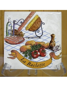 Carreau décor Raclette 10 x 10 cm