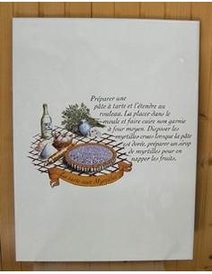 Carreau décor Tarte aux Myrtilles 25 x 33 cm