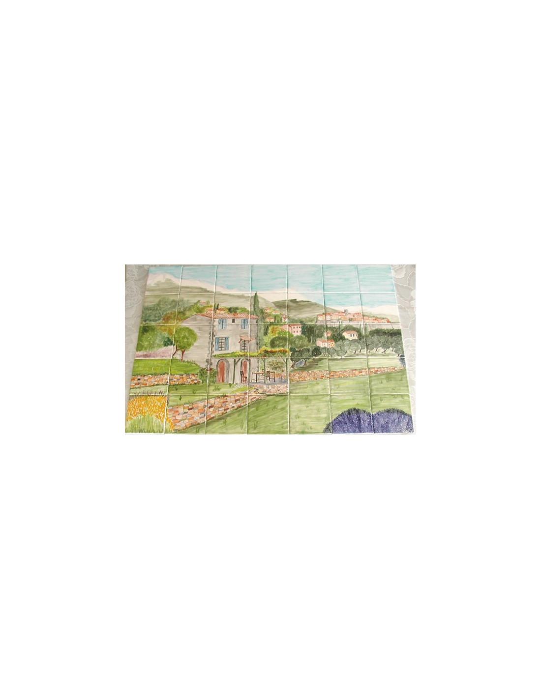 Fresque murale carrelage d cor bastide arri re pays ni ois for Fresque murale carrelage