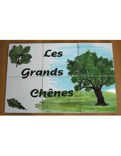 Fresque mural carrelage décor Les Grands chênes