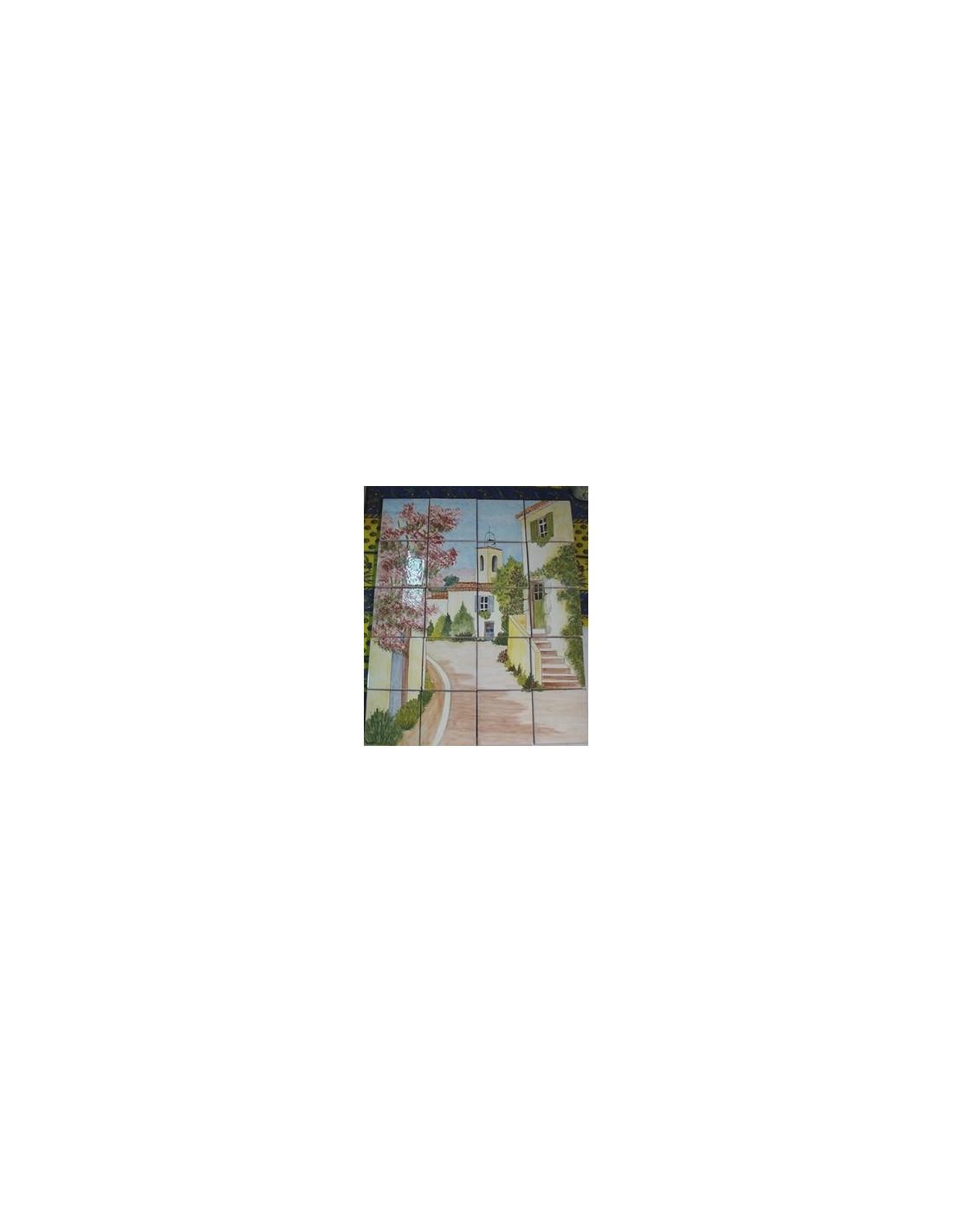 Fresque murale en faience artisanale fabriqu e dans le sud - Fresque carrelage mural ...