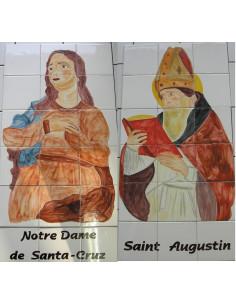 Fresque murale sur carreau en faïence décor Saints pour Chapelle