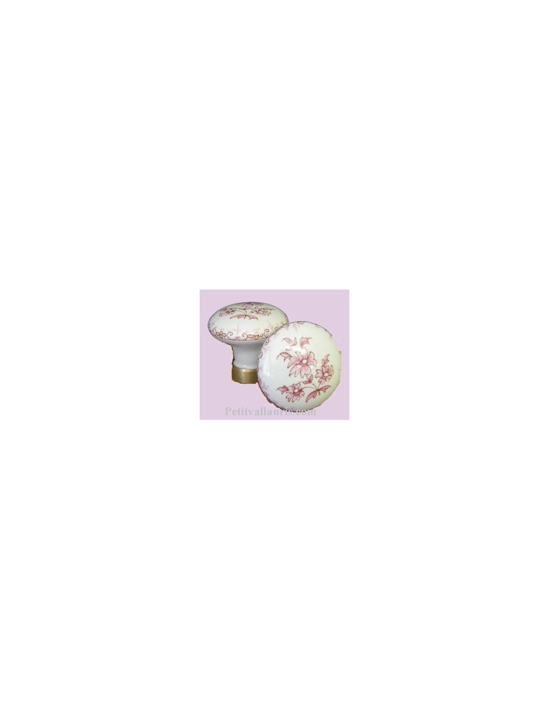 Bouton de placard d cor tradition vieux moustiers rose for Boutons de porte de placard originale
