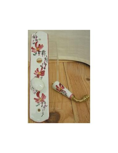 plaque de propret avec verrou d cor fleurs roses le petit vallauris. Black Bedroom Furniture Sets. Home Design Ideas