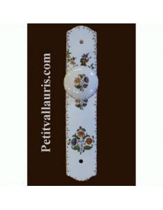 Plaque de propreté avec poignée ronde décor Moustiers