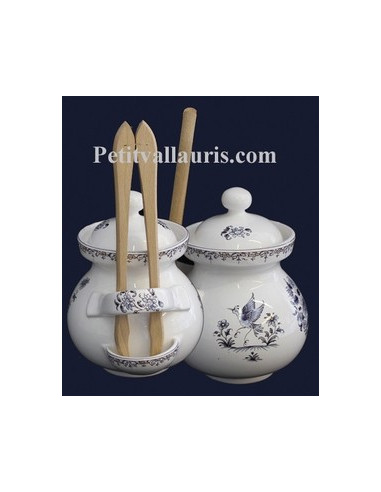 Pot cornichons d cor tradition vieux moustiers bleu le for Le petit vallauris