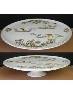 Vire Omelette décor Tradition Vieux Moustiers polychrome 32 cm