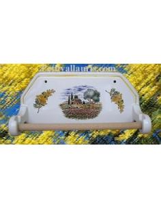 Dérouleur de papier essuie-tout mural décor Mimosas