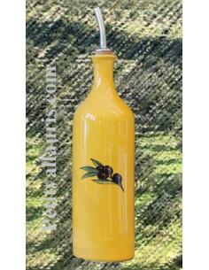 Huilier bouteille couleur Provençale Olives noires