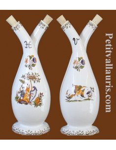 Huilier double décor Tradition Vieux Moustiers polychrome