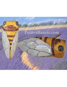 Cigale faïence céramique décor JCK (T.4)