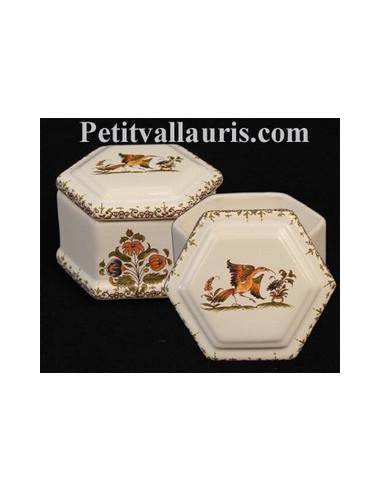 Bo te bijoux hexagonale d cor tradition vieux moustiers for Decoration boite a bijoux
