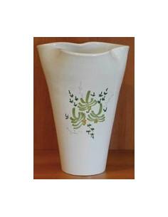 Vase Glaïeul en faïence décor Fleuri vert 25 cm