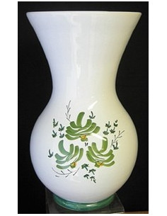 Vase Nadine en faïence décor Fleuri vert Taille 1