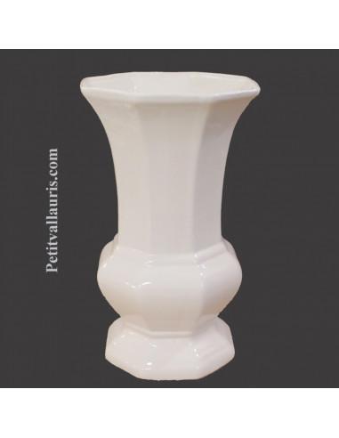 vase en faience blanche mod le medicis taille 1 email de couleur blanc brillant. Black Bedroom Furniture Sets. Home Design Ideas