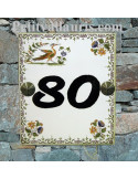 Numéro de Maison pose horizontale chiffre noir décor tradition vieux moustiers