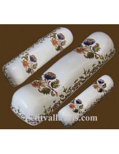 Porte couteau décor Tradition Vieux Moustiers polychrome (au détail)