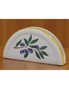 Porte serviette de table décor couleur provençal et olives