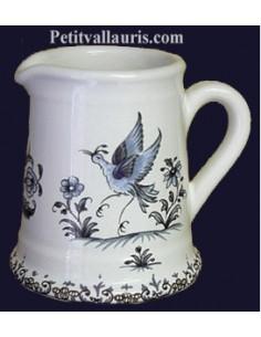 Pot à lait décor Fleuri rose