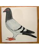 Plaque texte et décor personnalisé pour votre maison décor pigeon avec ou sans texte