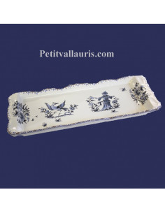 Plat à cake décor Tradition Vieux Moustiers polychrome