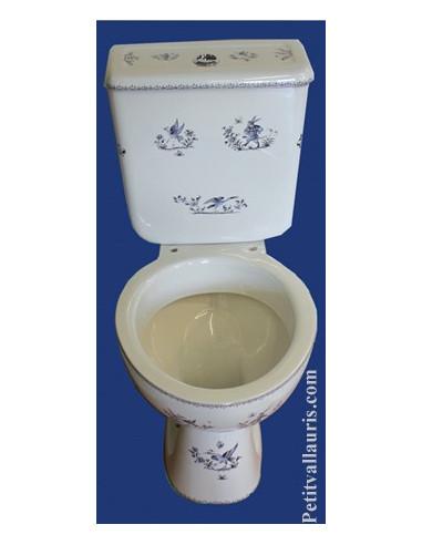 toilettes wc dcor tradition vieux moustiers bleu